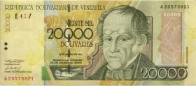 Venezuela P.086a 20.000 Bolivares 2001 (2)