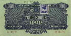 Tschechoslowakei / Czechoslovakia P.057S 1000 Kronen (1945) (1)