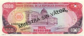 Dom. Republik/Dominican Republic P.138s1 1000 Pesos Oro 1994 Specimen (1)