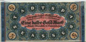 Bielefeld GP.51 1/2 Goldmark 1923 Leinen (1/1-)