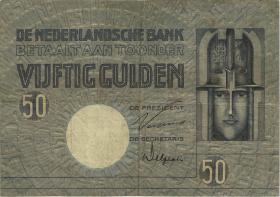 Niederlande / Netherlands P.047 50 Gulden 1929 (3-)