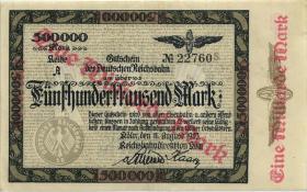 PS1290 Reichsbahn Köln 1 Milliarde Mark 1923 (1-) Überdruck