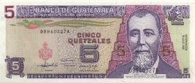 Guatemala P.074c 5 Quetzales 1992 (1)