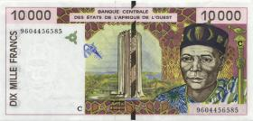 West-Afr.Staaten/West African States P.314Cd 10.000 Francs 1996 Burkina Faso (1-)
