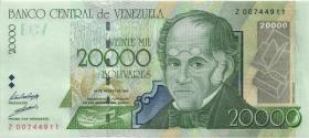 Venezuela P.82r 20.000 Bolivares 1998 Z replacement (1/1-)