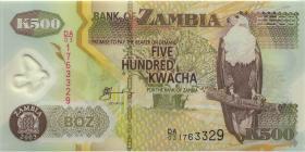 Sambia / Zambia P.43a 500 Kwacha 2003 Serie DA/03 (1)