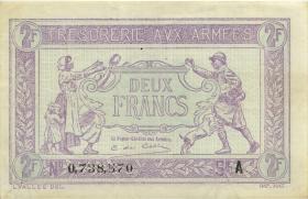 Frankreich / France P.M03 2 Francs (1917) Militärausgabe (2)