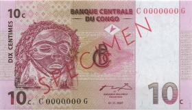 Kongo / Congo P.082s 10 Centimes 1997 Specimen (1)