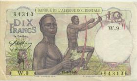 Franz. Westafrika / French West Africa P.37 10 Francs 1946 (3)