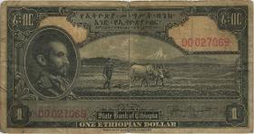 Äthiopien / Ethiopia P.12b 1 Dollar (1945) (4)