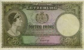 Luxemburg / Luxembourg P.46 50 Francs (1944) (2+)