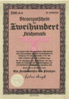 Steuergutschein 200 Reichsmark 1937 (1941) (1/1-)
