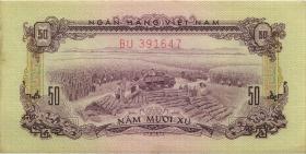 Südvietnam / Viet Nam South P.039a 50 Xu 1966 (1975) Übergangsausgabe (1)