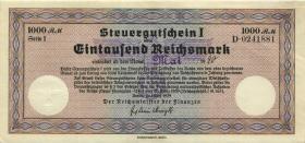 R.719l: Steuergutschein 1000 Reichsmark 1939 (Mai 1940) (1-)