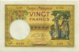 Madagaskar P.37 20 Francs (ca. 1937 - 1947) (1)