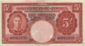 Jamaika / Jamaica P.37b 5 Shillings 1953 (2)