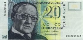 Finnland / Finland P.122 20 Markkaa 1993 (2)