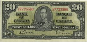 Canada P.062b 20 Dollars 1937 (1/1-)