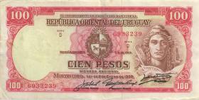 Uruguay P.39c 100 Pesos L. 1939 (3+)
