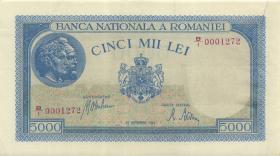 Rumänien / Romania P.055 5.000 Lei 28.09. 1943 (2)