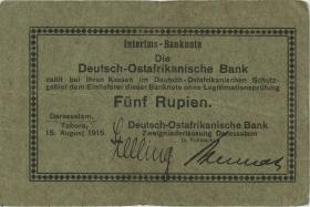 R.909c: Deutsch-Ostafrika 5 Rupien 1915 (3+)