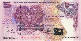 Papua-Neuguinea / Papua New Guinea P.20 5 Kina 2000 (1)