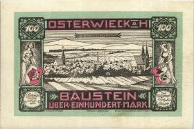 Osterwieck GR.360 100 Mark 1922 Ledergeld Baustein (2)
