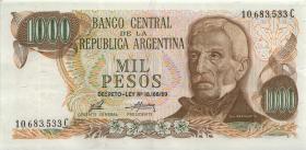 Argentinien / Argentina P.299 1000 Peso (1973-76) (2)