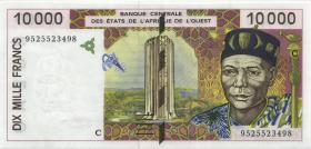 West-Afr.Staaten/West African States P.314Cc 10.000 Francs 1995 Burkina Faso (1-)