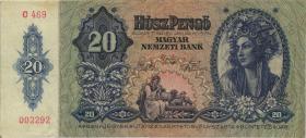 Ungarn / Hungary P.109 20 Pengö 1941 (3)