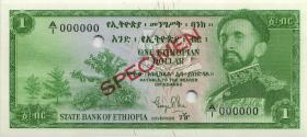 Äthiopien / Ethiopia P.18s 1 Dollar (1961) Specimen (1)