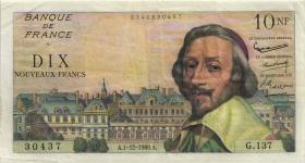 Frankreich / France P.142 10 Neue Francs 1.12.1960 (3)