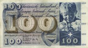Schweiz / Switzerland P.49l 100 Franken 1970 (3)