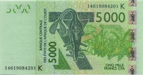 West Afrikanische Staaten / West African States P.717Km 5.000 Francs 2014 (1)
