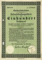 Ehestandsdarlehen 100 Reichsmark 1933 (2) mit Stempel