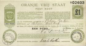 Südafrika / South Africa Orange Free State P.S689 1 Pound 1900 (3+)