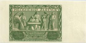 Polen / Poland P.078b 50 Zlotych 1936 Rückseite(1)