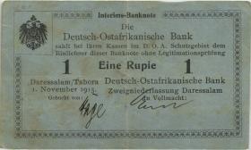 "R.914c Deutsch-Ostafrika 1 Rupie 1.11.1915 A (3) ""Häge"""