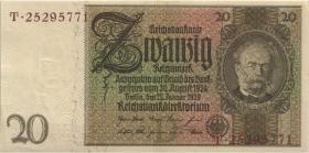 R.174F: 20 Reichsmark 1929 braune Kennnummer (1)