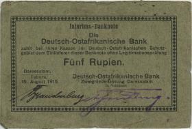 R.909d: Deutsch-Ostafrika 5 Rupien 1915 (3)