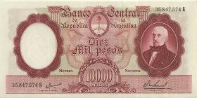 Argentinien / Argentina P.281b 10.000 Pesos (1961-69) (1)