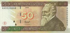 Litauen / Lithuania P.67 50 Litu 2003 (1) low number