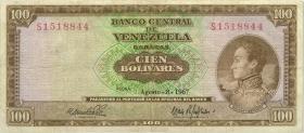Venezuela P.48e 100 Bolivares 1967 (3)