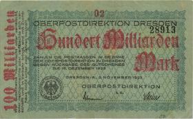 MG503.3b OPD Dresden 100 Milliarden Mark 1923 Ziffer 2 (3)