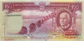 Angola P.094s 100 Escudos 1962 (1/1-) Specimen