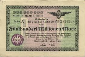 PS1289 Reichsbahn Köln 500 Millionen Mark 1923 (3)
