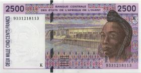 West-Afr.Staaten/West African States P.712Kb 2.500 Francs 1992 Senegal (1)