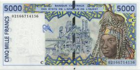 West-Afr.Staaten/West African States P.313Ci 5.000 Francs 2002 Burkina Faso (1)