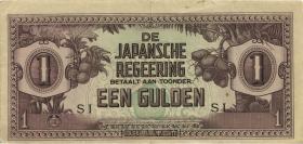 Ndl. Indien / Netherlands Indies P.123c 1 Gulden (1942) (2)
