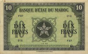 Marokko / Morocco P.25 10 Francs 1943 (3)